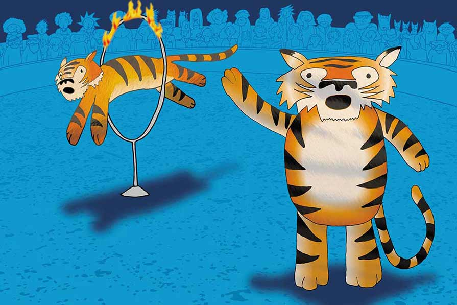 Performing Tigers- book illustration