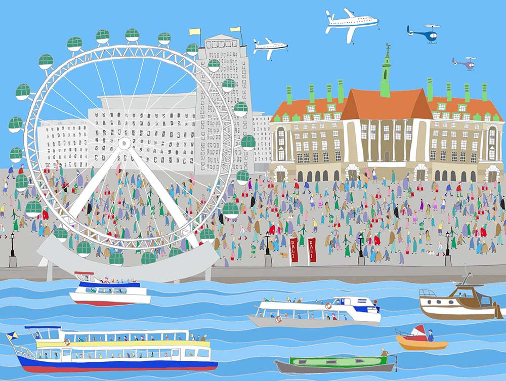London: Southbank - advertising illustration